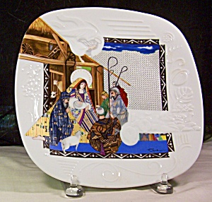 Adoration Of The Shepherds - Story Of Christmas Plate19