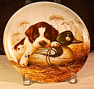 Dog Tired-the Springer Spaniel 1987 Plate