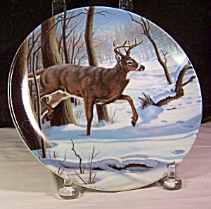 The White Tailed Deer 1989 Collector's Plate