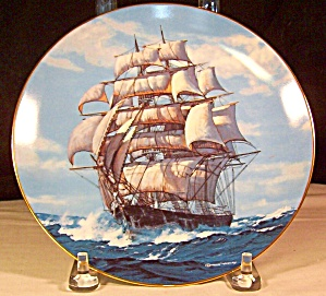 The Twilght Under Full Sail Collector Plate By Vickery
