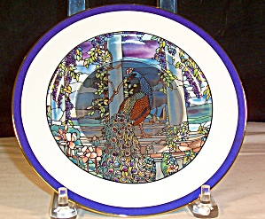 Peacock And Wisteria, Stained Glass Gardens Collection