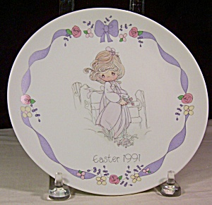 Precious Moments Collector Plate Easter 1991