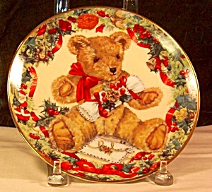Franklin Mint Teddy's First Christmas Collector's Plate (Image1)