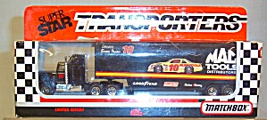 #10 Ernie Irvan Mac Tools Matchbox  Super Star Transporter (Image1)