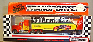 #74 Staff America  Jack Spraque Racing Matchbox 1:64 Diecast (Image1)