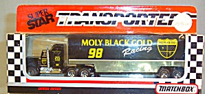 #98 Molly Black Gold Racing Matchbox Super Star Transporter (Image1)