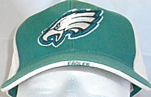 Philadelphia Eagles Hat Cap Green White Adjustibke D4110 (Image1)