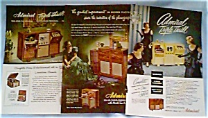 Admiral Brand Television Set Ads Lot of 5 dec011.Late 1940s (Image1)