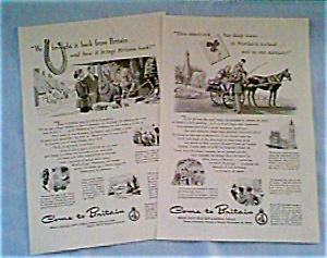 British Travel Association Ads Lot of 2 dec0714 late 1940s (Image1)