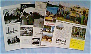 Canadian Government Travel Bureau Ads Lot of 6 dec0715  1940s (Image1)