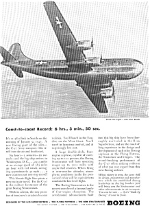 Boeing WWII C 97 Flight Record Ad feb0179 (Image1)