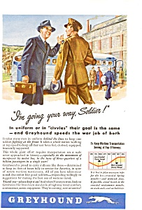 1943 Greyhound Bus Line Ad (Image1)