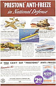 National Carbon Prestone Wwii Ad