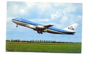 KLM 747 Postcard feb0256 (Image1)