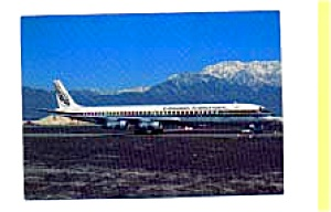 Evergreen International DC-8 Airline Postcard feb1052 (Image1)