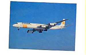 Scanair DC-8 Airline Postcard feb1055 (Image1)