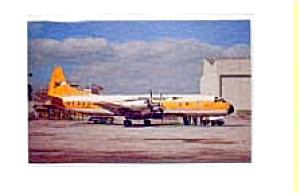Lockheed Electra Falconair  Airline Postcard feb1154 (Image1)