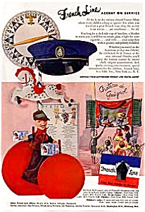 French Line Ads Lot of 3 feb137 1950s (Image1)