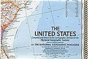 United States Map,feb 1968