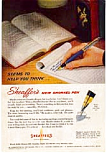 Shaeffer Snorkel Fountain Pen Ads (Image1)