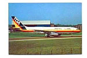 TDA Domestic A300 Airline Postcard feb2352 (Image1)