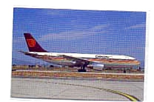 Orion Airways A300 Airline Postcard feb2354 (Image1)
