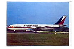 Phillipine Airlines A300 Airline Postcard feb2355 (Image1)