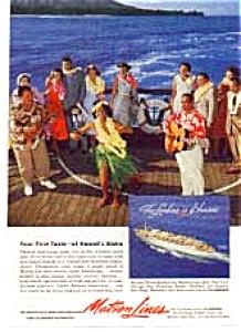 Matson Lines Ads Lot of 2 feb2441950s (Image1)