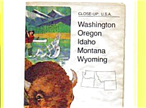 Close Up USA Map WA,OR,ID,MT,WY (Image1)