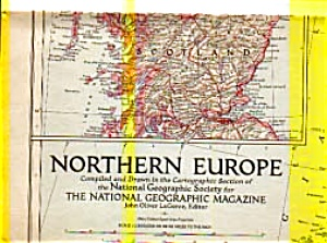 Northern Europe Map 1954