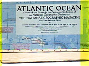 Atlantic Ocean Map 1955