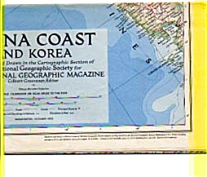 China Coast And Korea Map 1953