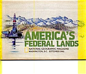 America's Federal Lands Map 1982 (Image1)