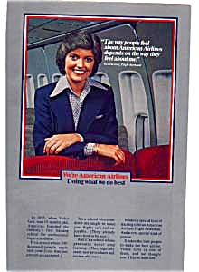 American Airlines Flight Attendant Ad Feb3206