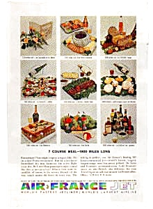 Air France 7 Course Meal Ad Feb3226