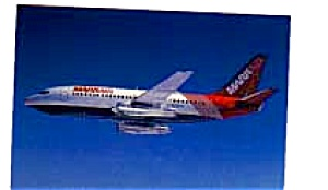 MarkAir 737 Airline Postcard feb3233 (Image1)