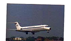 SAS Scandinavian DC-9 Airline Postcard feb3237 (Image1)