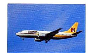 Hispania 737 Airline Postcard feb3246 (Image1)