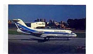 Aerolineas Argentinas Fokker F-28 Airline Postcard feb3253 (Image1)