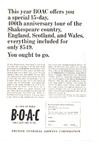 BOAC Shakespeare  Tour Ad (Image1)