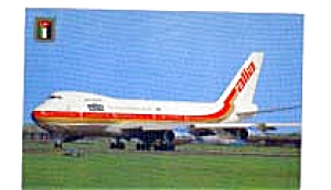 Royal Jordanian 747 Airline Postcard feb3306 (Image1)