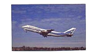 Aerolineas Argentineas 747 Airline Postcard feb3314 (Image1)