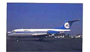 Delta Air Transport N.V. Fokker F28 Postcard feb3323 (Image1)