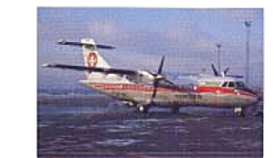 Cimber Air Atr-42 Airline Postcard Feb3327