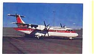 Continental Express ATR-42 Airline  Postcard feb3333 (Image1)