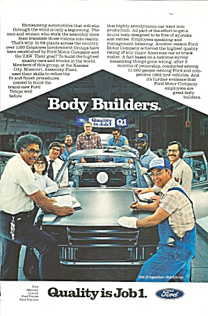 Ford Body Builders Quality Is Job 1
