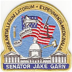 Senator  Garn Flight 51D NASA Space Patch (Image1)