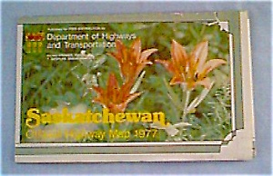 Saskatchewan Official Highway Map Of 1977
