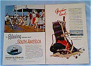 Moore McCormack steamship Ads Lot of 2 jan0314 (Image1)