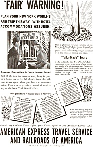 American Express World's Fair  Ad 1939 (Image1)